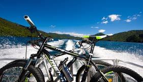 Mountain bike transport on the Queen Charlotte Sound